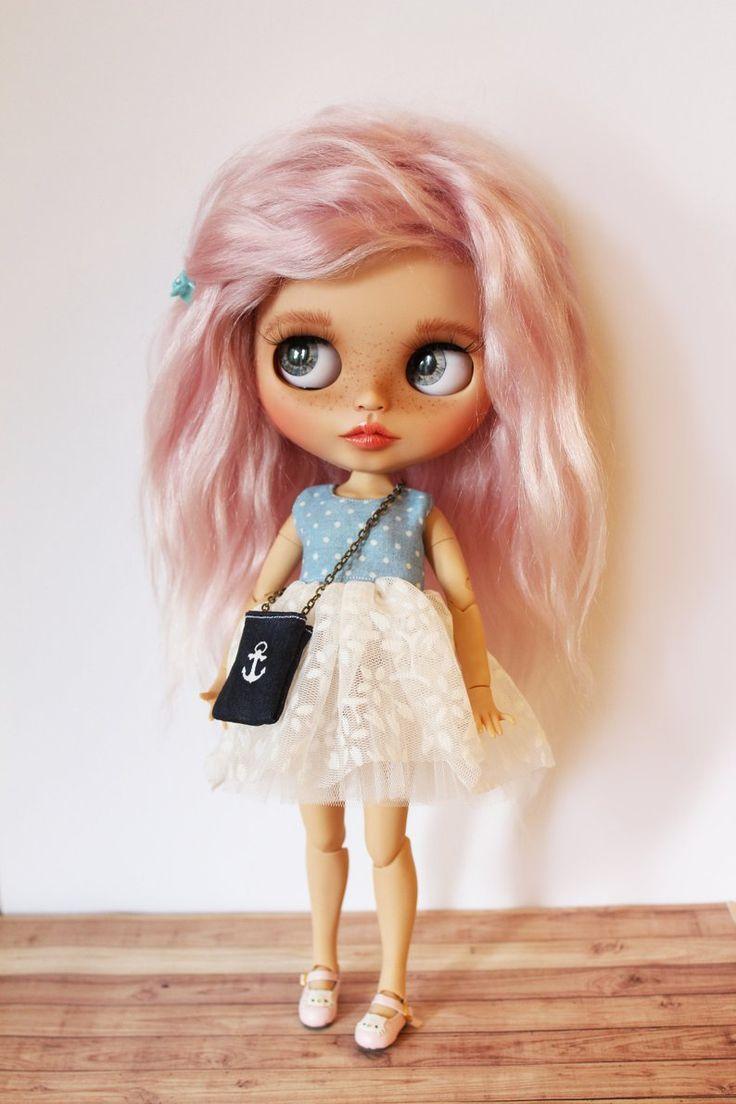 """ooak custom Blythe Doll """"Lily"""" mohair weft Blythe custom Blythe ooak"""