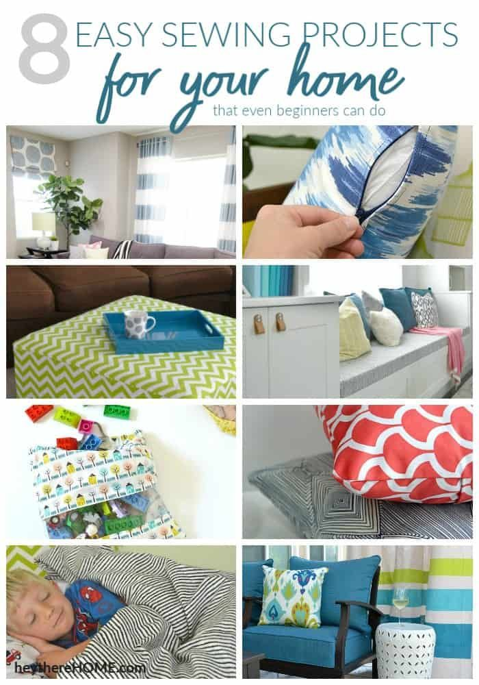 These Are Such Easy Ways To Get A Custom Look With Your Home Decor Sew Own Sewing Projects That Even Beginner Can Do