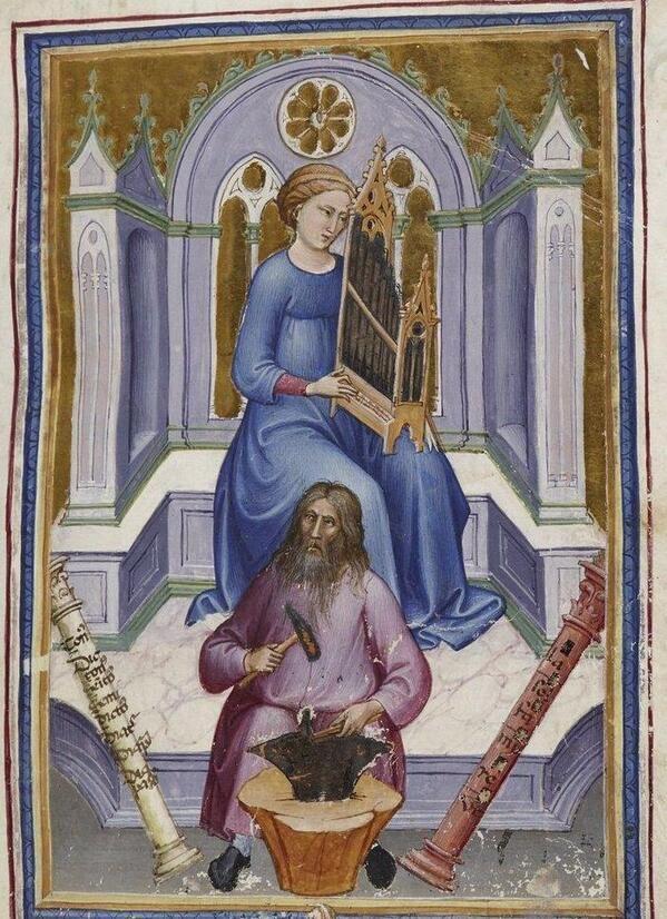 Via @johan oosterman Odd ensemble: sonata for anvil and organ! ParisBN