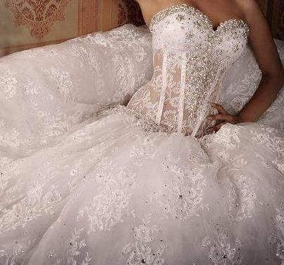 corset wedding gown ❤