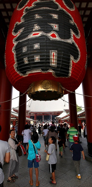 Tokyo - a massive paper lantern at the Hozomon gate at the Senso-ji temple in Asakusa. I have stood under this lantern on several occasions.
