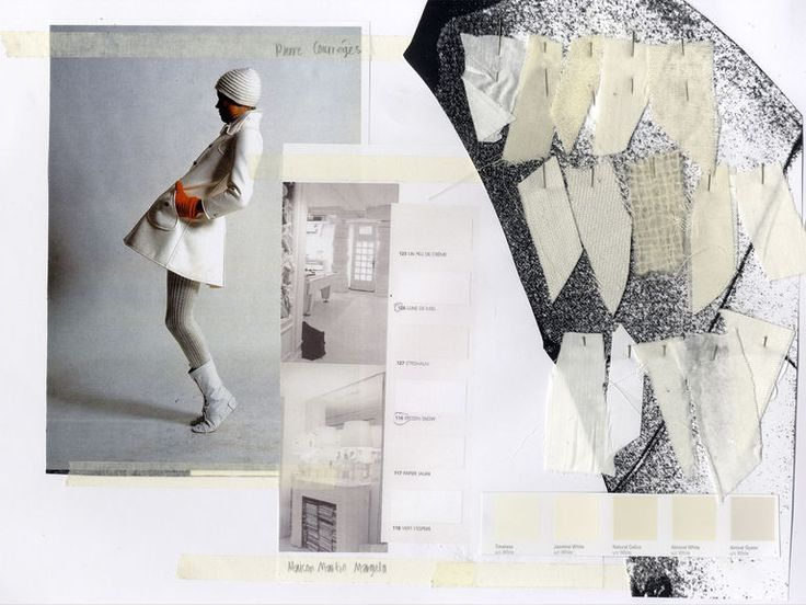 The White Light// Shade of Whites from Pierre Courreges & Maison Marin Margiela // Research and Colour Pallet, Fabric selection