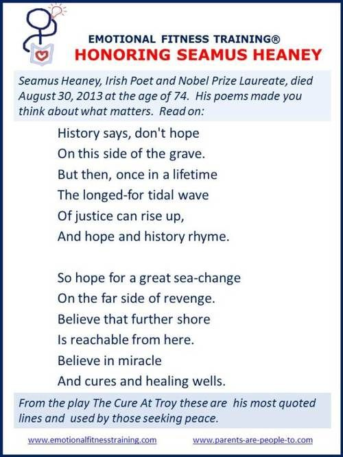 best seamus heaney irish poet nobel prize winner images on  poem about what matters in honor of seamus heaney his most quoted lines