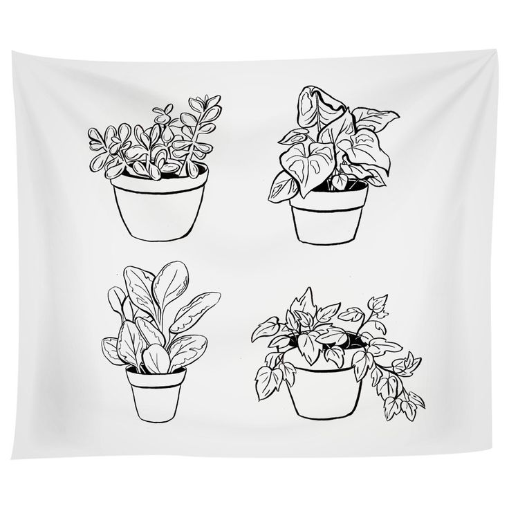 Desk Plants Tapestry