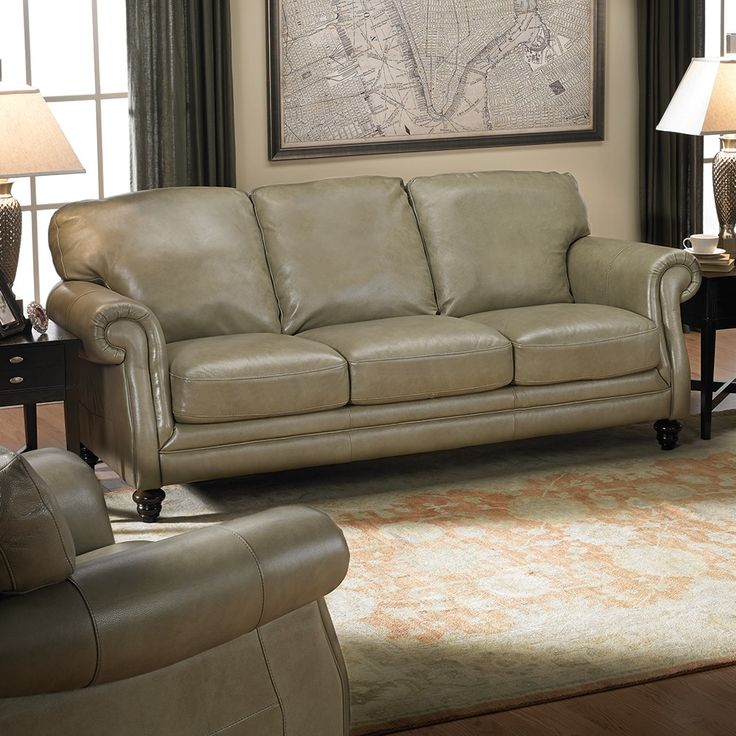 Oregon Sofa Leather Natuzzi Haynes Living Rooms