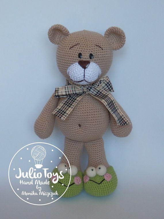 El Clasico  teddy bear  crochet PDF pattern от JulioToys на Etsy