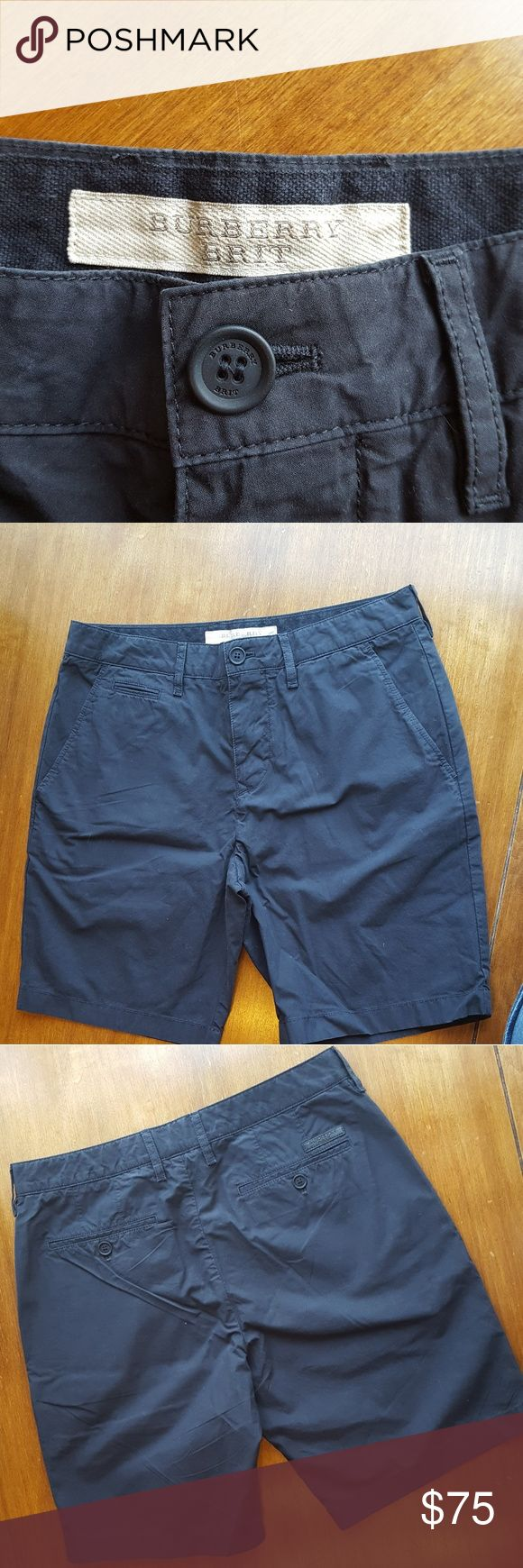 BURBERRY navy khaki shorts Size 28 Burberry Brit navy shorts in like new condition. BURBERRY Shorts Flat Front