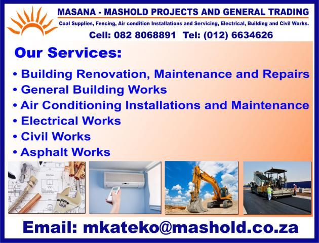 Masana Mashold Projects And General Trading In Centurion Gauteng