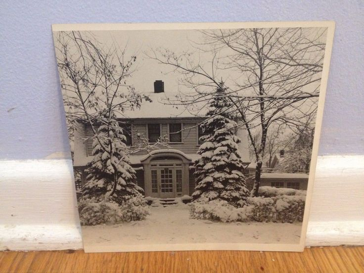 Arthur Gray Original Iconic Clevland Ohio House Winter WPA Original Photograph | eBay
