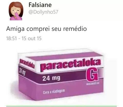 Comprei o teu remédio