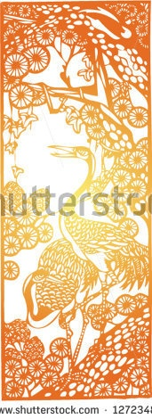 Set of Vector from Traditional Chinese Paper-cut, very popular in North-West China, for celebration of Spring Festival or Wedding by Johny Keny, via ShutterStock
