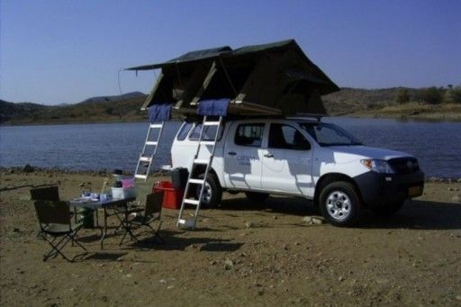 in Zimbabwe toyota hilux double cab with 2 rooftents - motorhome rental