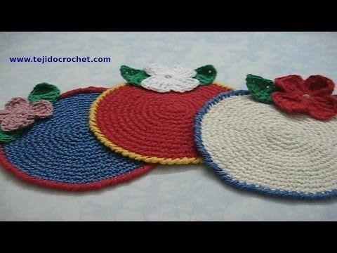 ▶ Posavasos en tejido crochet, tutorial paso a paso. - YouTube