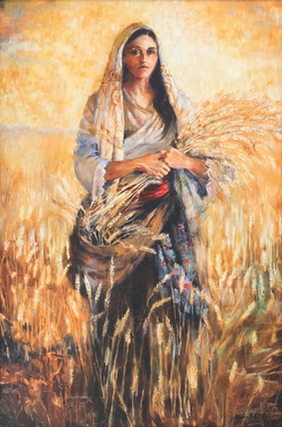 Painting of the Biblical Ruth, whom is deeply admired by my mother in law. Done by Sandra Rast.