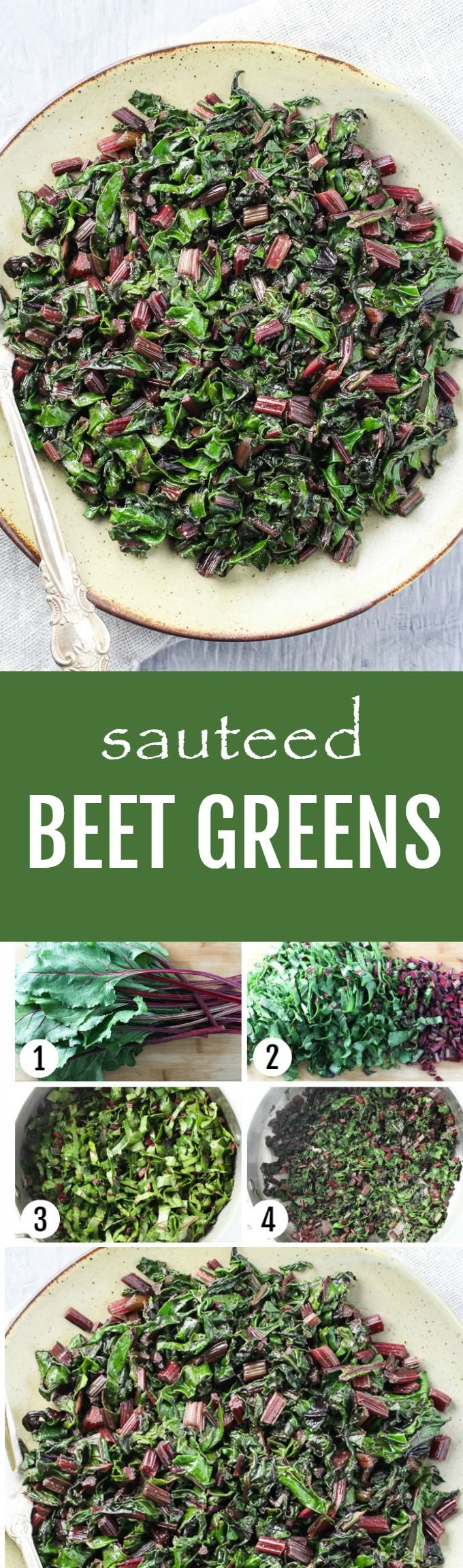 These sauteed beet greens are healthy and delicious. The recipe is very easy to make and includes step-by-step pictures. Ready 10 minutes.