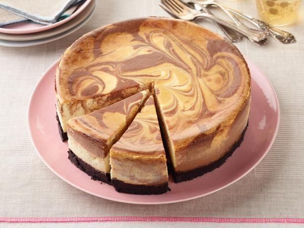 Get Chocolate-Butterscotch Swirl Cheesecake Recipe from Food Network