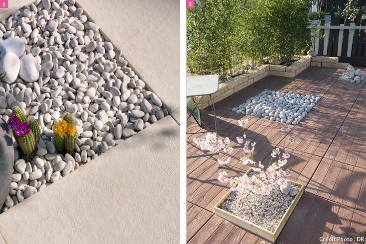 174 best terrasses balcons images on pinterest - Terrasse en cailloux ...
