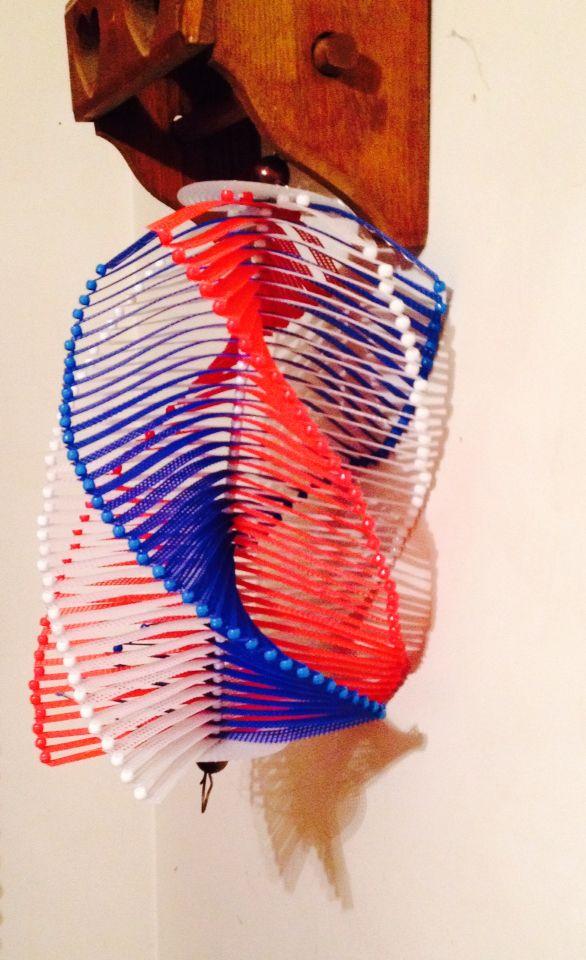Plastic canvas windchime