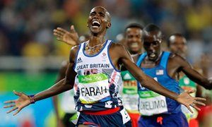 Magical Mo Farah bags another Olympic gold and earns his place in history      Britain's Farah streaks clear to clinch 'double double' of 5,000m and 10,000m     Star emulates Lasse Viren, who won both races at 1972 and 1976 Olympics