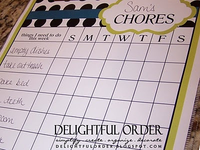 She has some really great chore charts and family message boards...I am going to compile a couple of her ideas into one to make Lawson a daily to-do list :)