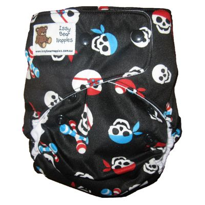 ARRRRRRR!!!! Blue and Pink Pirate print nappies are on sale! #talklikeapirateday #talklikeapirate #pirate