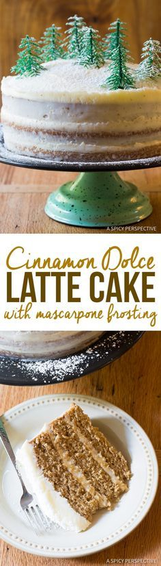 Ultimate Cinnamon Dolce Latte Cake with mascarpone frosting via @Sommer | A Spicy Perspective