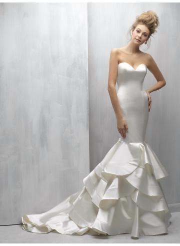 abiti da sposa da sposa sirena in raso