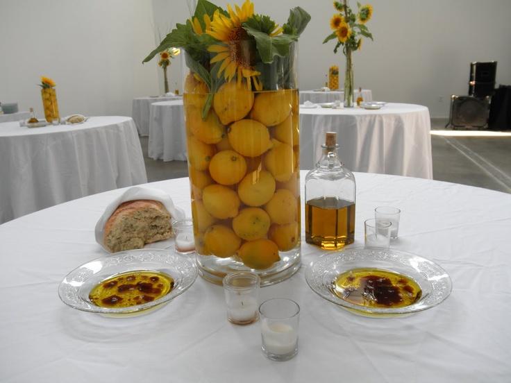 Sunflower And Lemons Centerpiece : Best florals images on pinterest table decorations