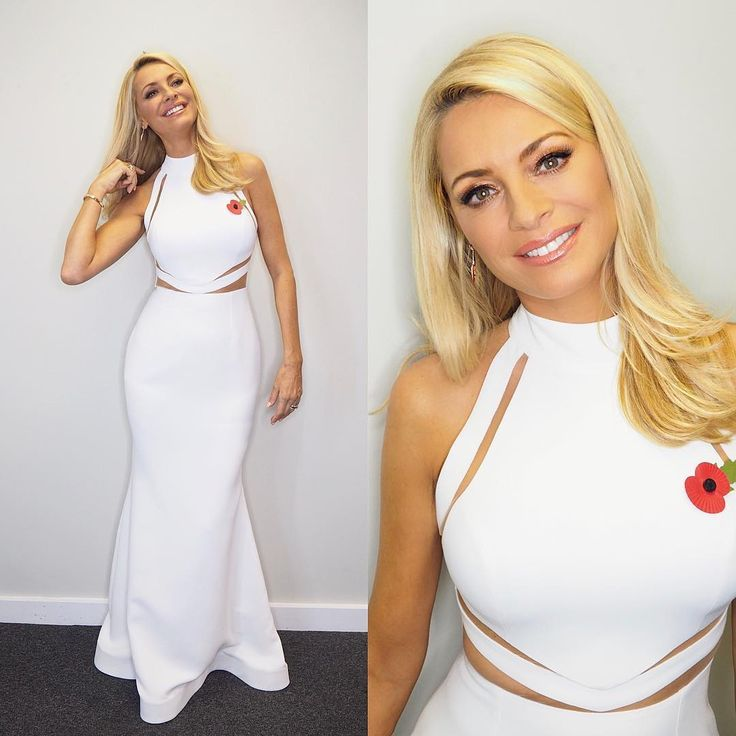 Tess Daly Strictly dress white cut out dress Strictly Come Dancing 2017 photo James Yardley