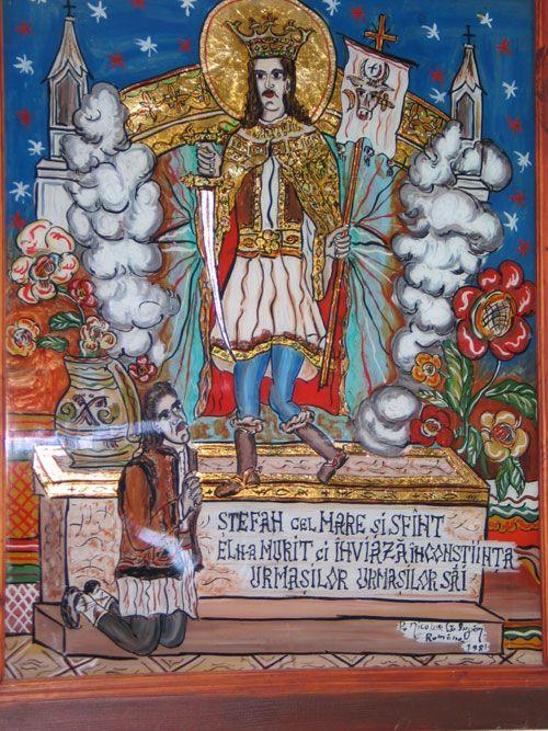 Pictura pe sticla,  expozitie permanenta in Saschiz sursa: saschiz.ro