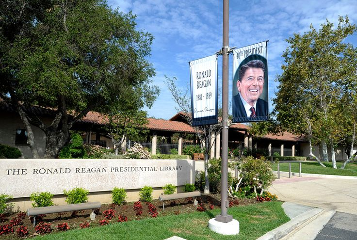 Reagan Library, a center of Americana, prepares for GOP debate. #ReaganLibrary #GOPDebate #RonaldReaganPresidentialLibrary  Read about visiting the Reagan Library in my book, To Hell and Back: The Life Story of an Austrian World War II Survivor!
