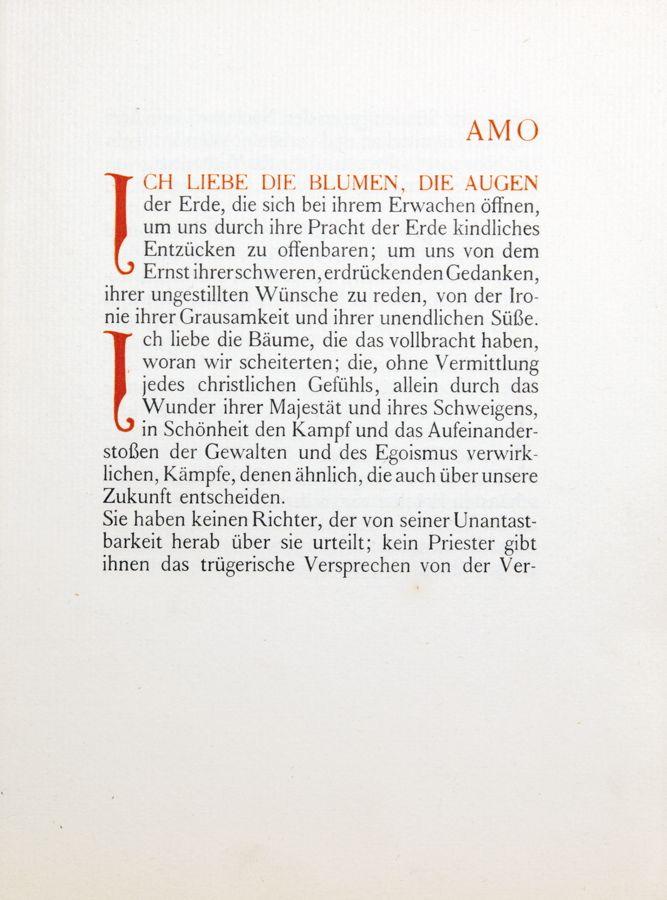 Insel Verlag [Leipzig] 1909. Mit Initialen von Henry van de Velde.
