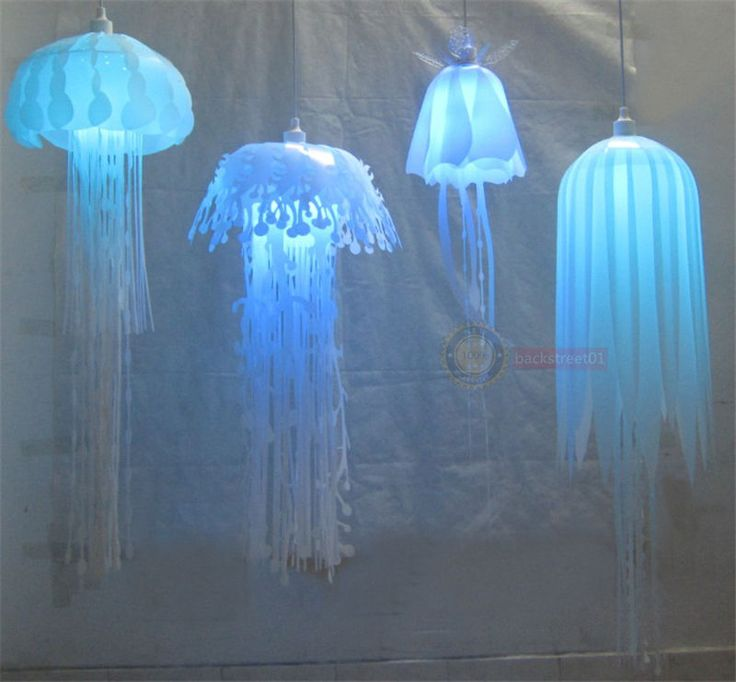 Hanging Jellyfish Lampshade Glow Ethereal Ceiling Light