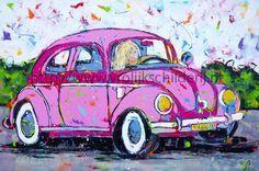vrolijk schilderij liz volkswagen kever - Google zoeken