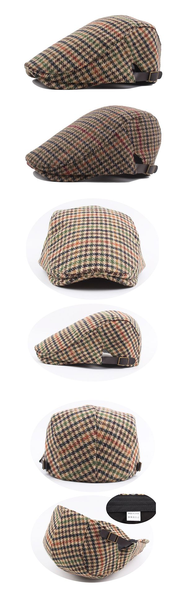US$8.23 (47% OFF) Fall&Winter Fashion: Mens Beret Cap: British Style & Grid Pattern / Warm / Casual / Breathable