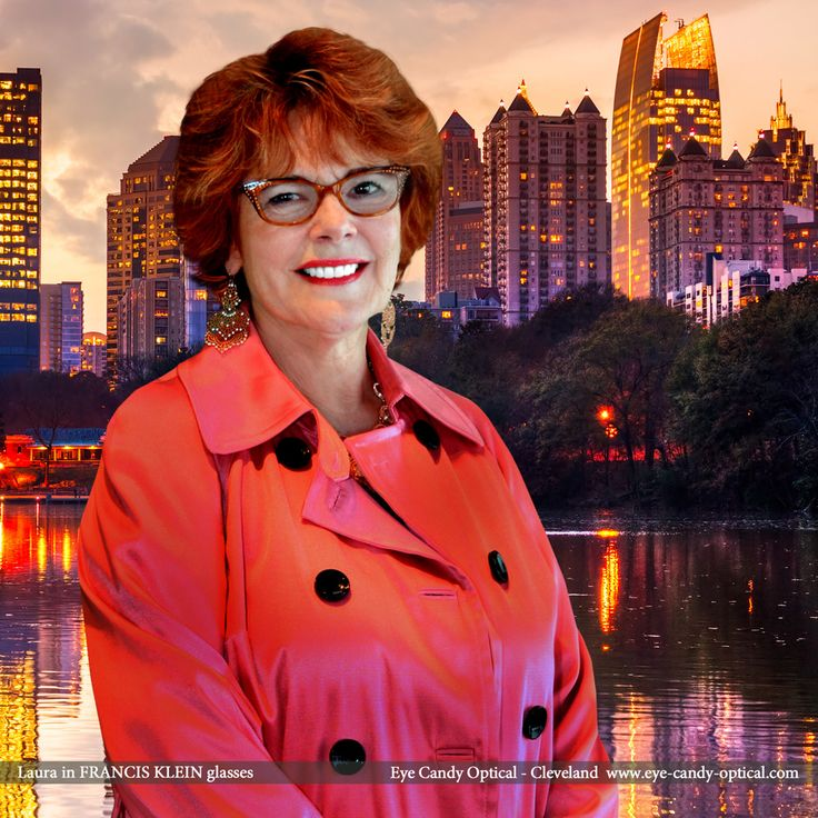 Laura enjoys a wonderful evening view of Atlanta's downtown wearing her new sparkly designer glasses by Francis Klein.  Eye Candy takes the finest European Eyewear Fashion down South for the sweetest ice tea on the planet! Eye Candy Optical Cleveland – The Best Glasses Store! (440) 250-9191 - Book an Eye Exam Online or Over the Phone www.eye-candy-optical.com