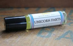 """Unicorn Farts Perfume: """"This smells just exactly like real unicorn farts! Which obviously smell like strawberry cotton candy and spearmint, everybody knows that."""" $9"""
