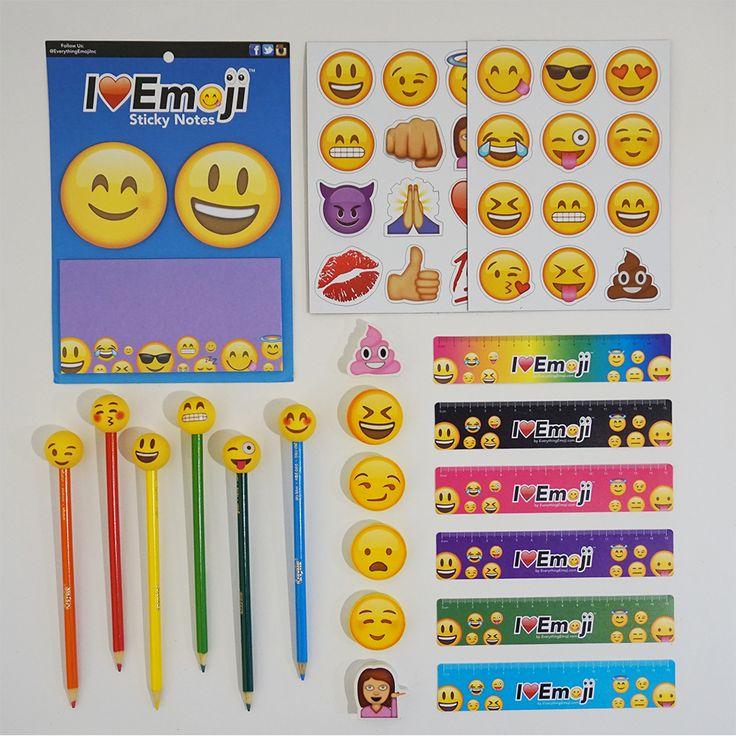 Go back to school in style with this emoji school supply fun pack featuring Blush emoji! Check out our School Supply Fun Packs Featuring Other Emojis - Fast Shipping - 24 Emoji Magnets - 3 Emoji Stick