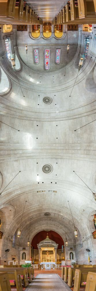 Richard Silver's Stunning Vertical Panoramas of New York Churches,Our Lady of Pompeii. Image © Richard Silver Photo