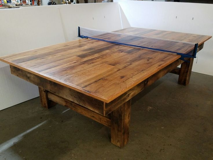 Reclaimed Wood Ping Pong Table Eye Catching Amp Unique