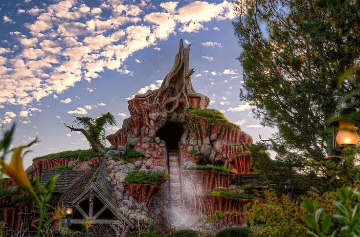 Splash Mountain in Disneyland, California