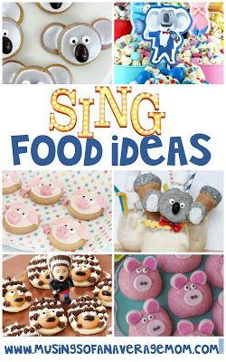 Sing food ideas, Sing birthday party