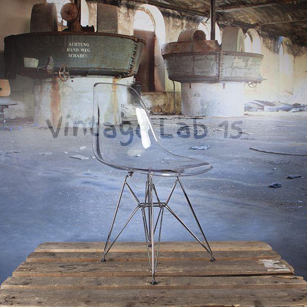 Design Eames DSR stoel transparant - Vintagelab15.com