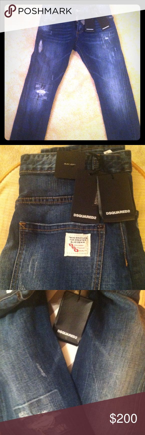 DSQUARED2 Men Slim Jeans. Authentic, from Italy. A brand new pair of DSQUARED2 Slim Jeans for Men pants, never worn!! It's made from Italy and Authentic!! DSQUARED2  Jeans