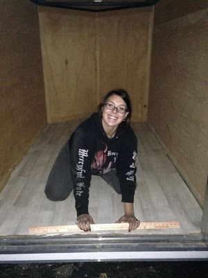 Converting a 5x8 cargo trailer to an off-the-grid camper with little money and no prior experience- Woman on the Mountain