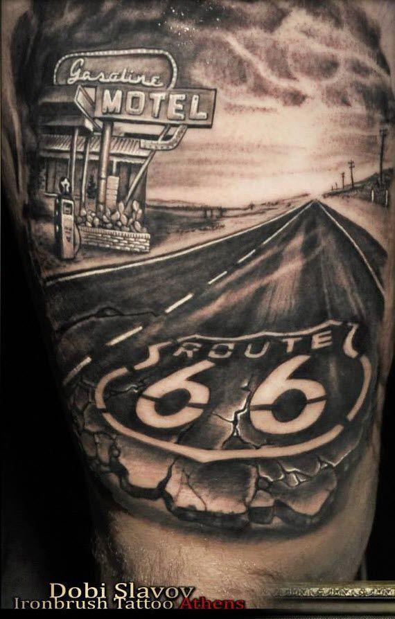 Resultado de imagen de Route 66 Tattoo | Armando | Tattoos ...