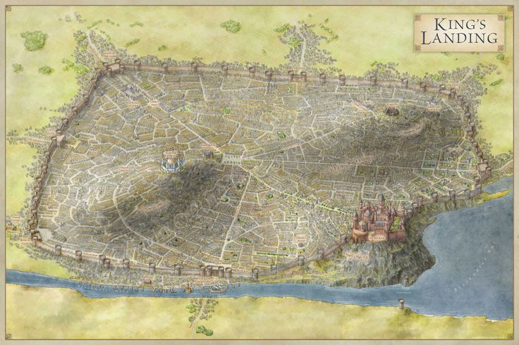 King's Landing map for Game of Thrones