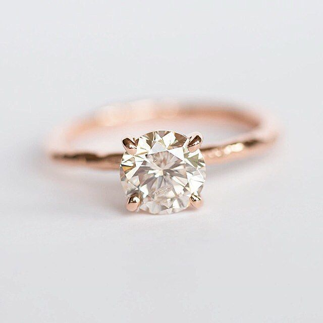 {The Vintage Rose } 1.5ct vintage diamond in an organic textured rose gold solitaire setting. Tale as old as time.... customizable for other diamonds