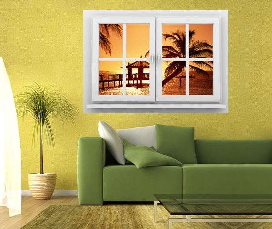 17 best images about tropical wall murals on pinterest for Bay view wall mural