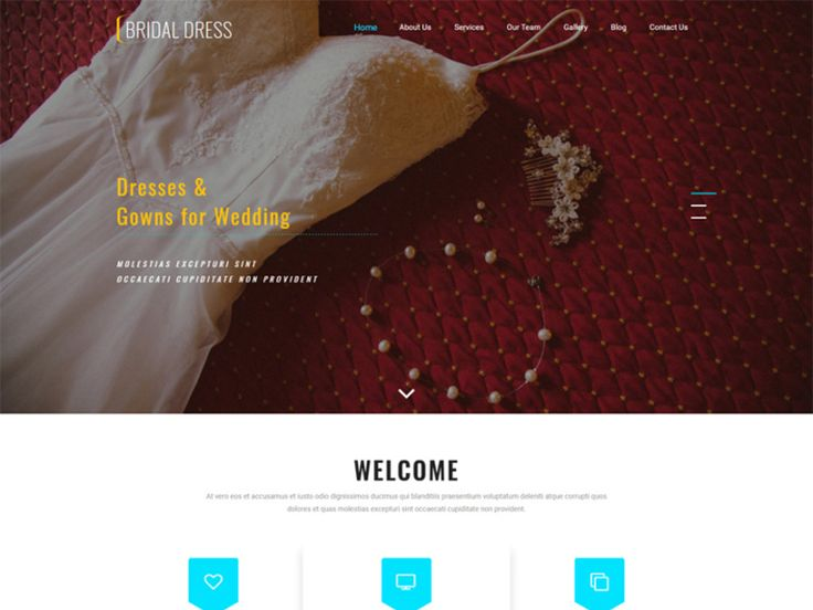 Bridal Dress is a Wedding Website Template for all your fashion or wedding websites in order to boost your online presence and expand your business via online by using this modern and elegantly designed template. This smartly designed template is also a perfect choice for all your websites like wedding event, party schedule, Wedding Agency, wedding invitation, engagement, wedding invitation, engagement, Shop business, Bridesmaid and Groomsmen, wedding design, Wedding Bridal Shop, Atelier…